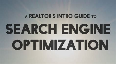 Search Engine Optimization Articles 5 by A Realtor S Intro Guide To Search Engine Optimization