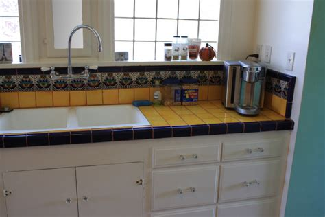 mexican tile backsplash kitchen mexican tile in a kitchen counterop and backsplash