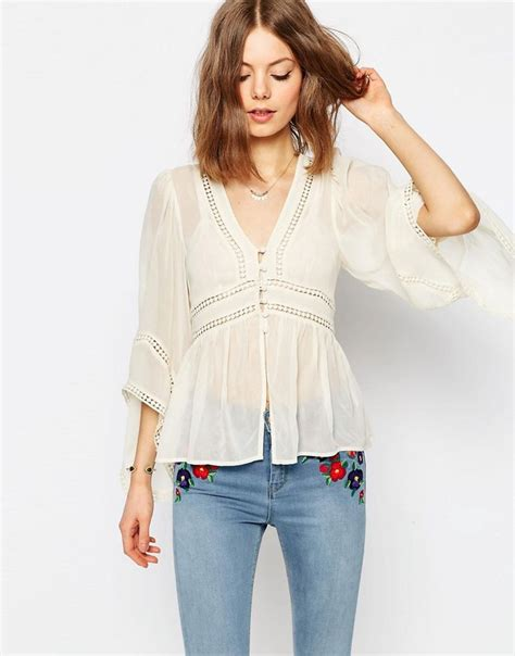 Lace Blouse With Tile best 25 v neck blouse ideas on