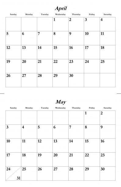 april   calendar template  stock photo public domain pictures