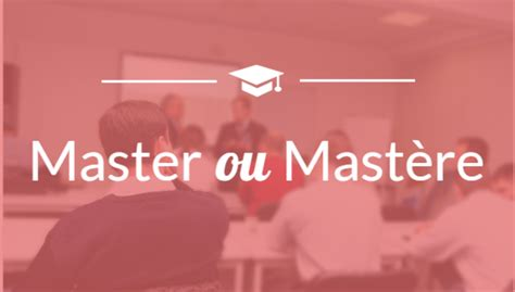 Différence Entre Master Et Mba by Diff 233 Rence Entre Master Et Mast 232 Re Choisir Sa Formation