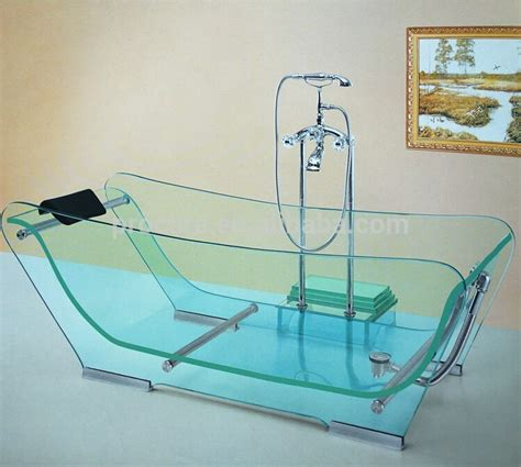 glass bathtub price launched transparent whirlpool tempered glass bathtub