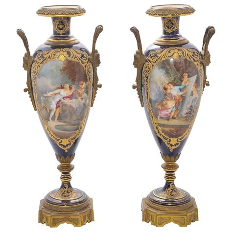 Sevres Vases For Sale by Pair Of 19th Century Sevres Porcelain Vases For Sale At