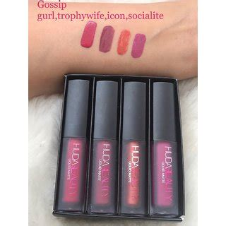 Huda Mini Liquid Lipstick buy huda mini liquid matte lipstick four new lovely