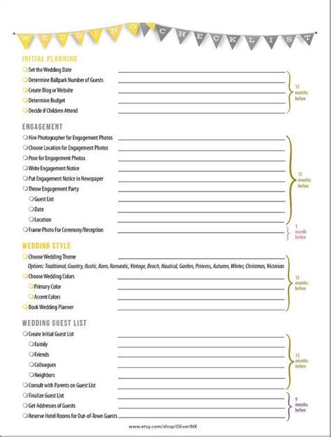Wedding Checklist With Dates by 42 Best Images About Etsy Shop On Save The