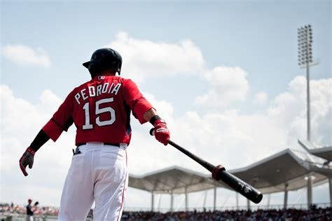 what size bat does dustin pedroia swing kevin thomas from spring training can red sox go worst to