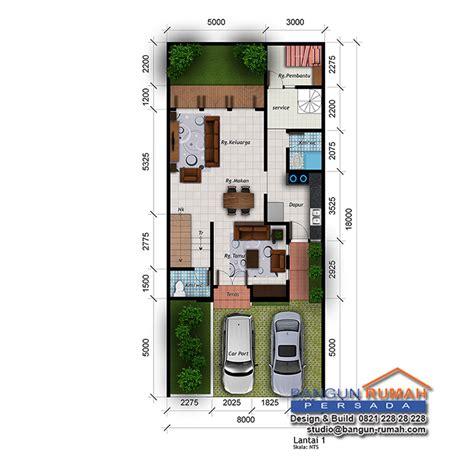 desain rumah  lantai  lahan     rm   lt