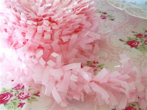 cotton candy pink tissue garland festooning fringe