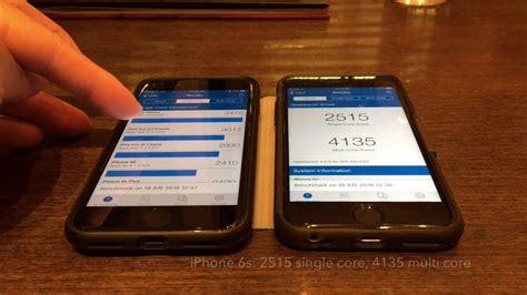 iphone 7 vs iphone 6s geekbench 4