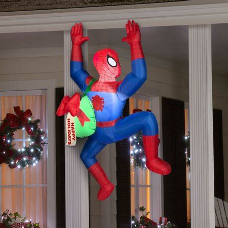 airblown inflatable ft spiderman  action happy holidays walmartcom