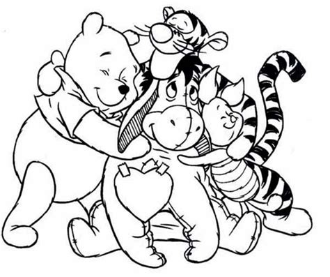 winnie the pooh coloring pages free printable coloring pages