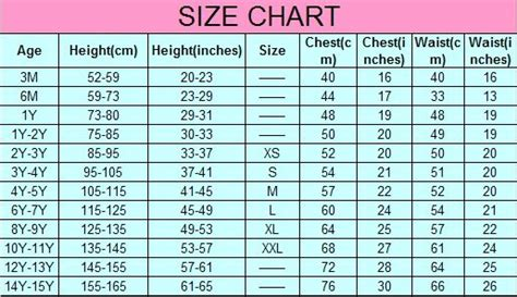 boys clothing size chart clothes sizes clothes