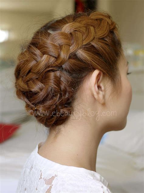 hair updo pictures with braids ebeautyblog com hair tutorial summer braided updo