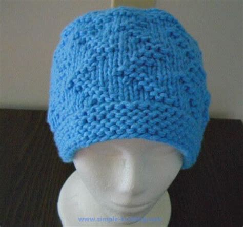 knitting hats for beginners beginner zig zag hat allfreeknitting