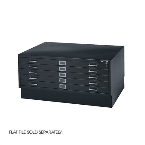 Safco File Cabinets by Safco Closed Base 4994 Flat File Black Filing Cabinet Ebay