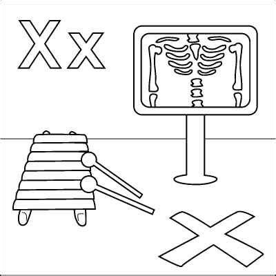 free printable x ray coloring pages letter x coloring page x ray xylophone quot x quot marks the