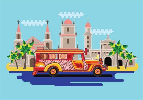 philippines jeepney vector filipino jeepney vector download free vector art stock