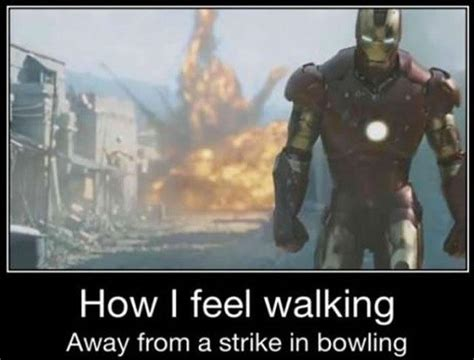 Bowling Memes - how i feel walking away from a strike in bowling jokes