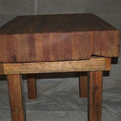 Handmade Butcher Block - handmade butcher block table by environmental builders