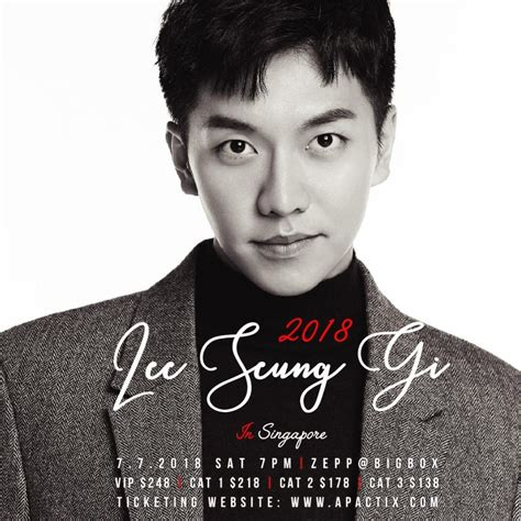 lee seung gi host event 2018 lee seung gi in singapore kavenyou