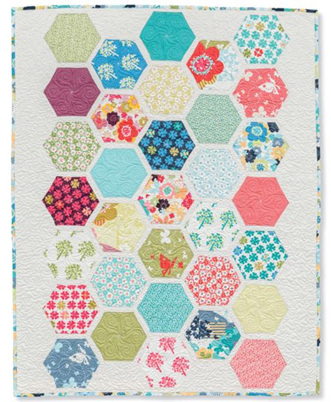 Hexagon Patchwork Patterns Free - pin patchwork hexagon pattern free quilting pictures on