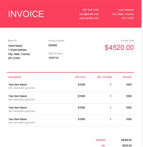 graphic design freelance invoice publicassets us