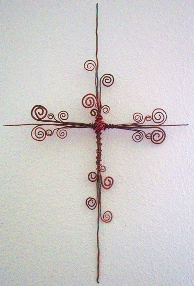 wire for craft projects craft project copper wire cross wall hanging thriftyfun