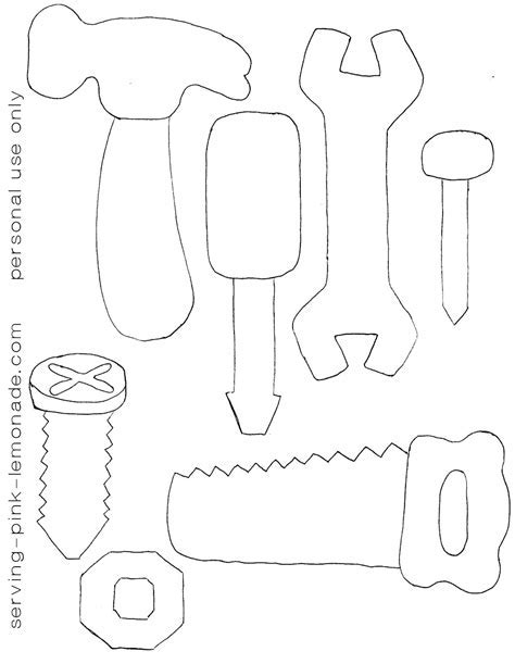 Tools Template by Serving Pink Lemonade Felt Tools