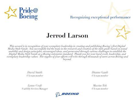 boeing cover letter resume jerrod larson user experience