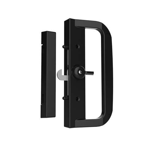 Patio Sliding Door Lock With Key Rolltrak Spares Black Sliding Patio Non Keyed Door Lock Bunnings Warehouse