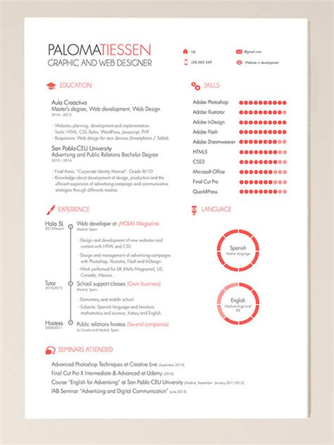 illustrator resume templates 50 beautiful free resume cv templates in ai indesign