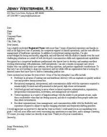 Cover Letter Exles For Nurses by Sle Cover Letter For Nurses