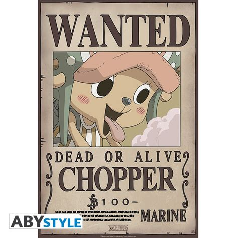 membuat poster wanted one piece one piece poster wanted chopper new 52x35cm abystyle