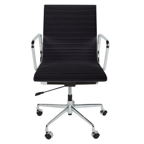 eames ribbed office chair eames inspired black back style ribbed office chair