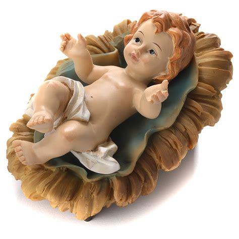 15 Pcs Figurine Babies baby jesus figurine in coloured resin 10cm sales on holyart