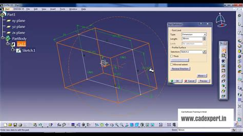 solidworks tutorial in hindi catia tutorial in hindi quot pad command quot youtube