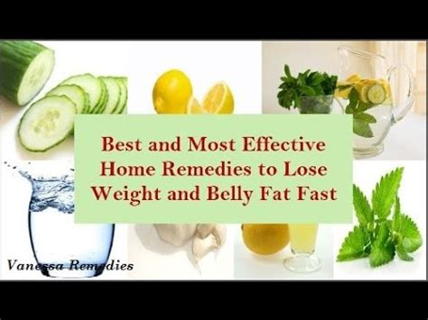 home remedies to lose weight and belly