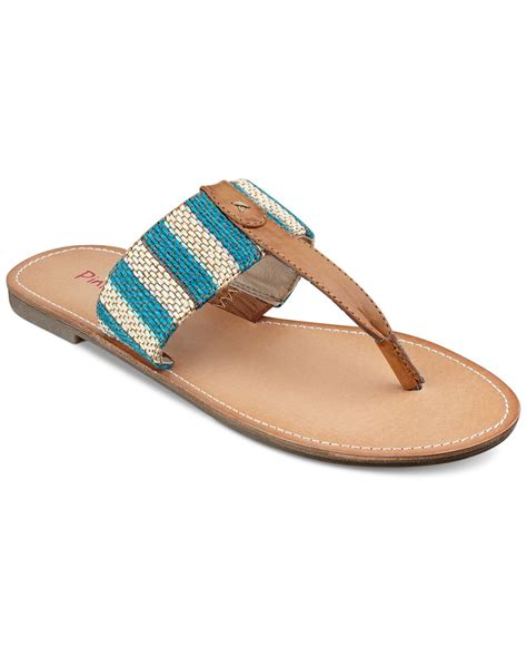 pink and blue sandals lyst pink and pepper pink pepper noah flat