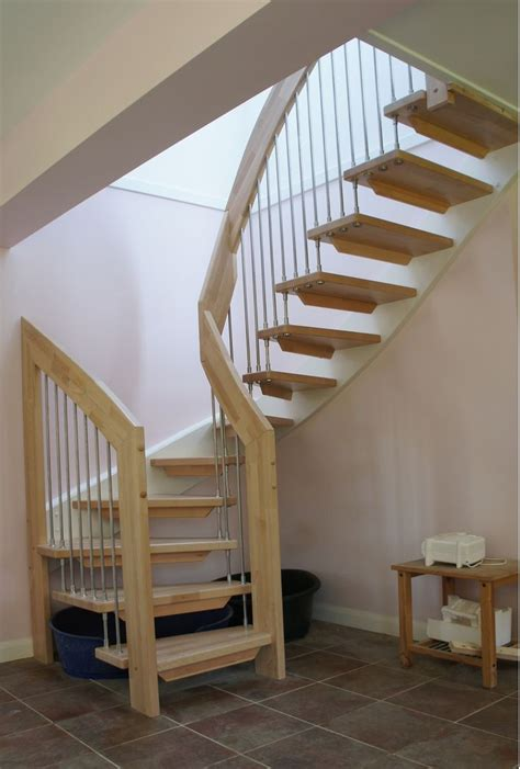 simple design ideas  small space staircase  brown