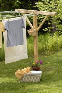 clotheslines for small backyards handmade wooden clothesline pole kit by windyhillscompany