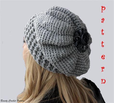 pattern crochet francais crochet slouchy hat pattern crochet oversized french