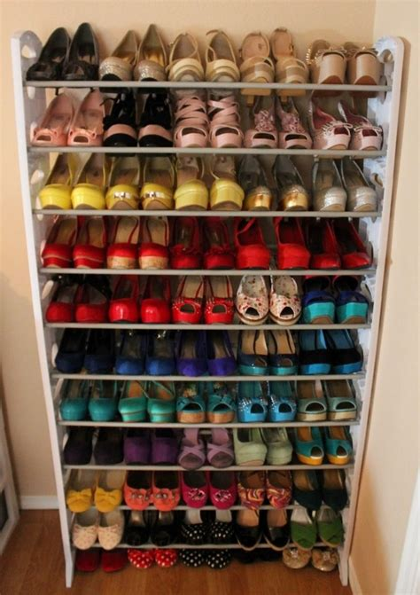diy shoe rack for closet drop dead gorgeous closet shoe storage systems