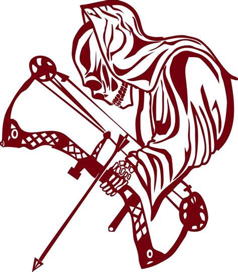 bow decal archery grim reaper bow arrow hunting hunter window laptop