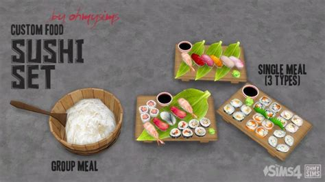 sims 4 food cc sushi set at oh my sims 4 187 sims 4 updates