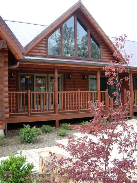 Log Home Exterior Pictures   Custom Timber Log Homes