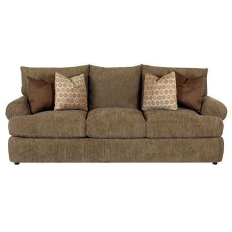 stationary sofa casual upholstered stationary sofa by klaussner wolf and