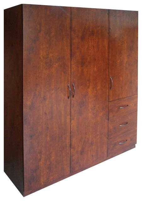 Garrett Wardrobe Walnut Contemporary Armoires And Home Source Industries Armoires And