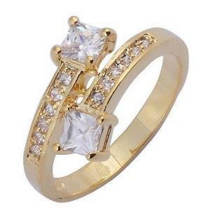 Cincin Yellow Sapphire Ah 50 cincin wanita ring 6 model white sapphire gold filled