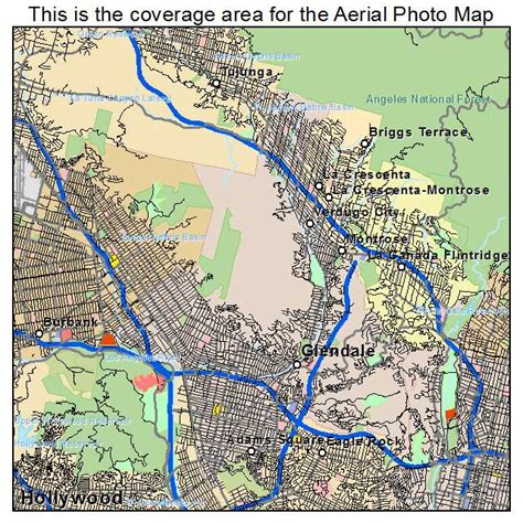 california map glendale aerial photography map of glendale ca california