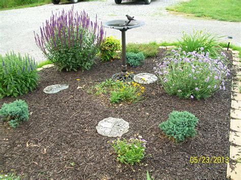 perennial flower bed landscaping garden pinterest